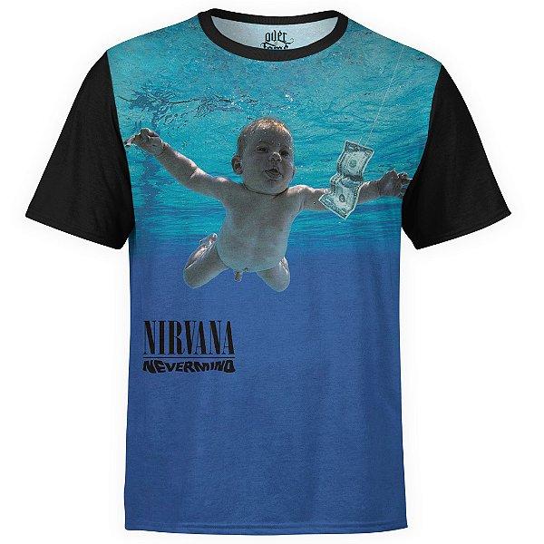 Camiseta masculina Nirvana Estampa digital md02
