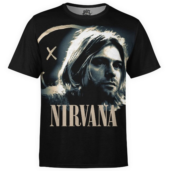 Camiseta masculina Nirvana Estampa digital md03