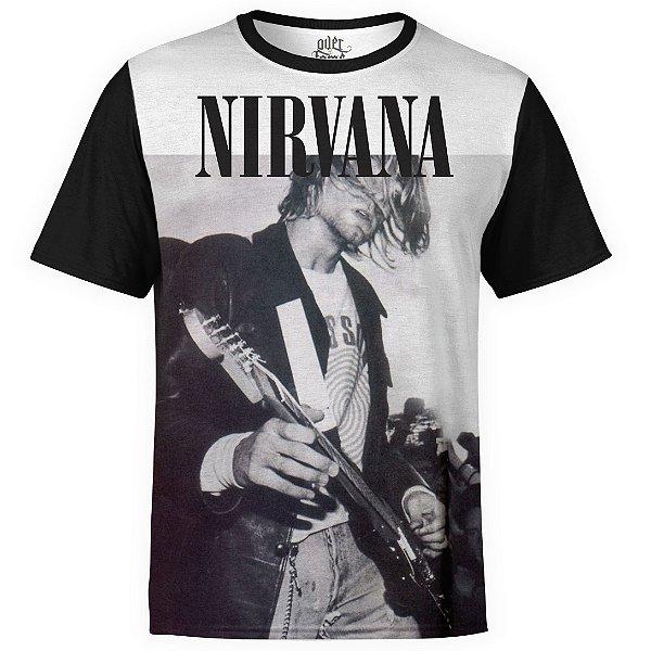 Camiseta masculina Nirvana Estampa digital md04