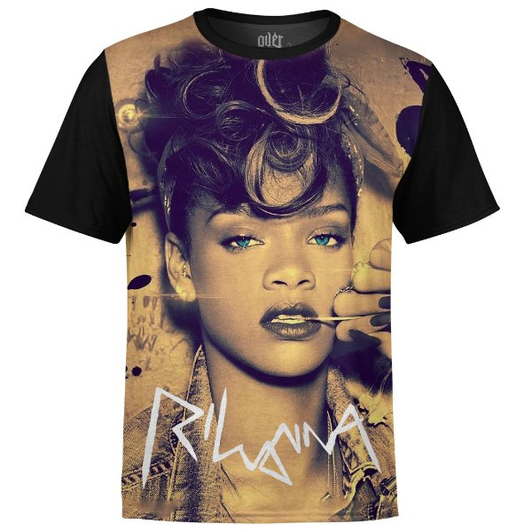 Camiseta masculina Rihanna Estampa digital md02
