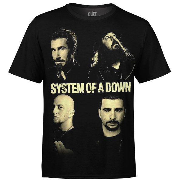 Camiseta masculina System of a Down Estampa digital md01