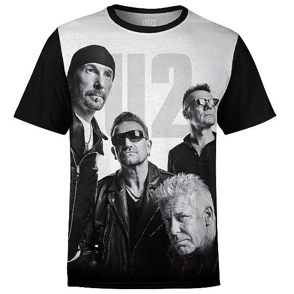 Camiseta masculina U2 Estampa digital md01