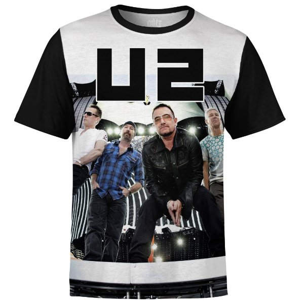 Camiseta masculina U2 Estampa digital md02
