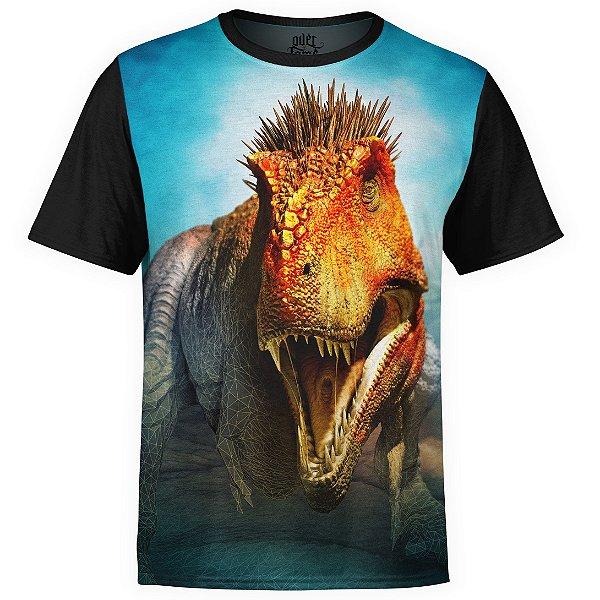 Camiseta masculina Sci-fi T-Rex Estampa digital Md03