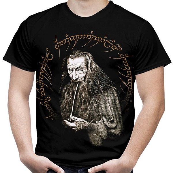 Camiseta Masculina Gandalf Senhor dos Anéis Estampa Total Md01 - OUTLET