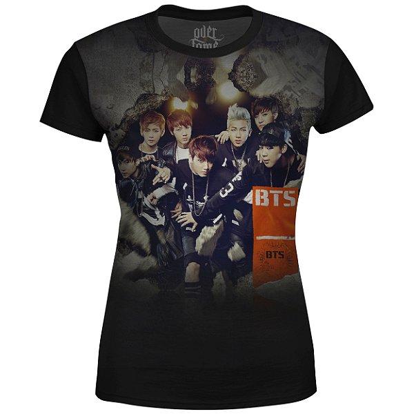 Camiseta Baby Look Feminina BTS Bangtan Boys md04