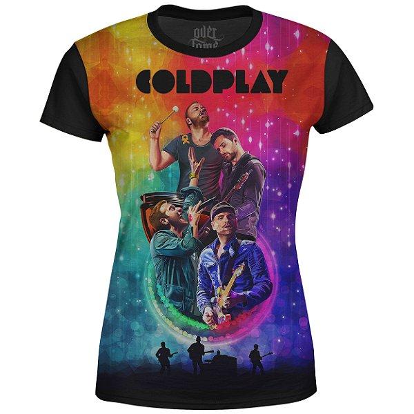 Camiseta Baby Look Feminina Coldplay Estampa digital md01
