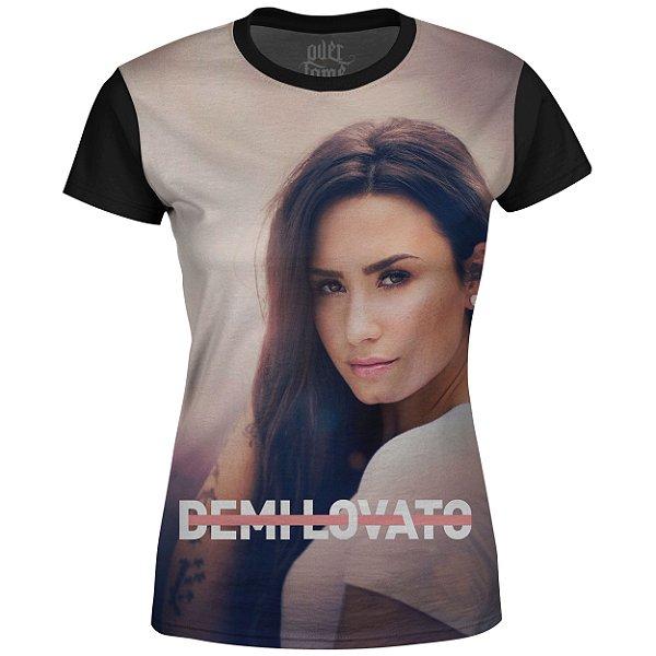 Camiseta Baby Look Feminina Demi Lovato Estampa digital md01