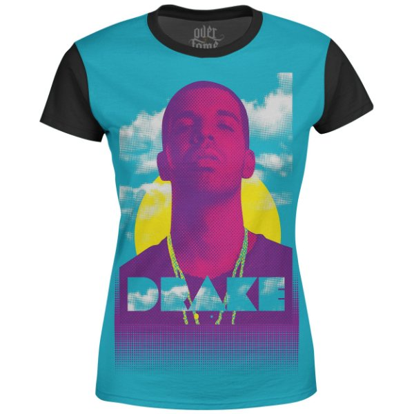 Camiseta Baby Look Feminina Drake Estampa digital md01