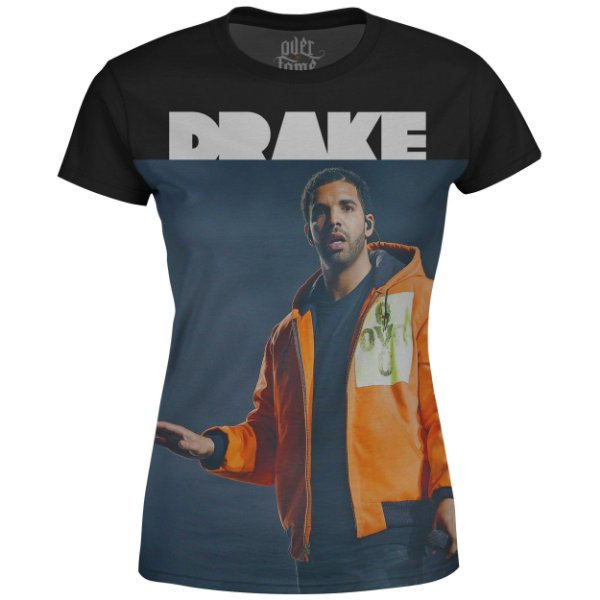 Camiseta Baby Look Feminina Drake Estampa digital md03