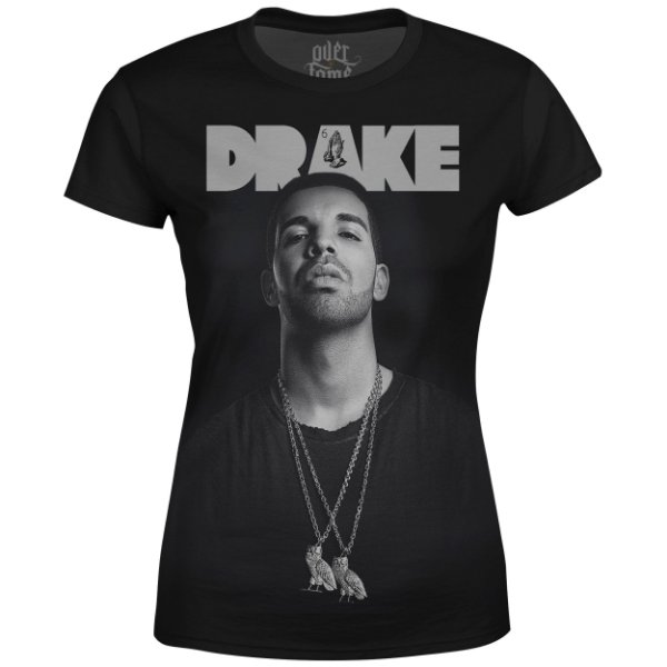 Camiseta Baby Look Feminina Drake Estampa digital md04