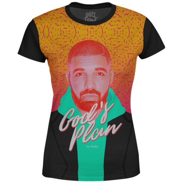 Camiseta Baby Look Feminina Drake Estampa digital md06