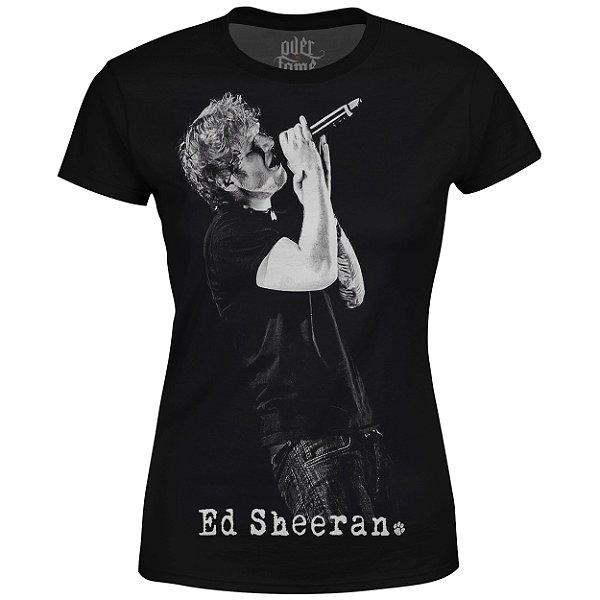Camiseta Baby Look Feminina Ed Sheeran Estampa digital md01
