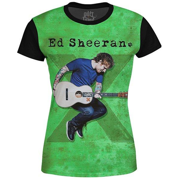 Camiseta Baby Look Feminina Ed Sheeran Estampa digital md02