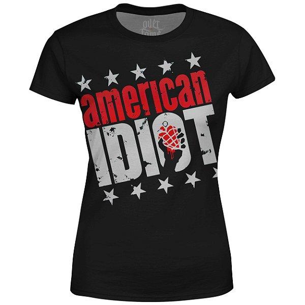 Camiseta Baby Look Feminina Green Day Estampa digital md03