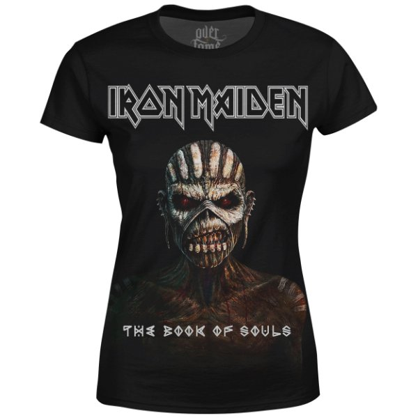 Camiseta Baby Look Feminina Iron Maiden Estampa digital md03
