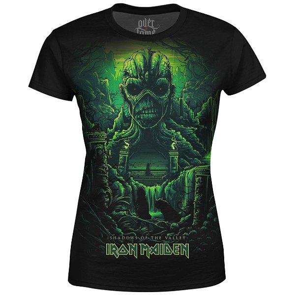 Camiseta Baby Look Feminina Iron Maiden Estampa digital md04
