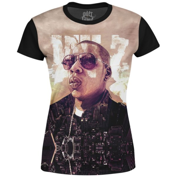 Camiseta Baby Look Feminina Jay-Z Estampa digital md01