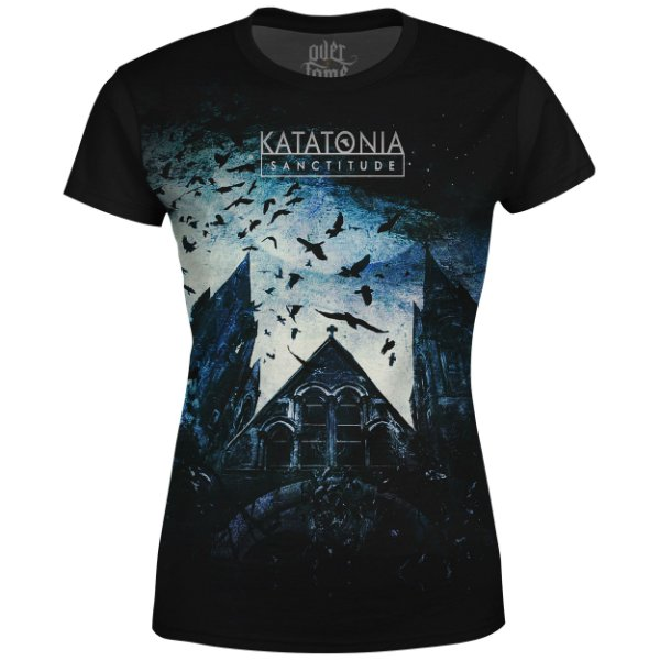 Camiseta Baby Look Feminina Katatonia Estampa digital md01