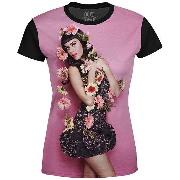 Camiseta Baby Look Feminina Katy Perry Estampa digital md01