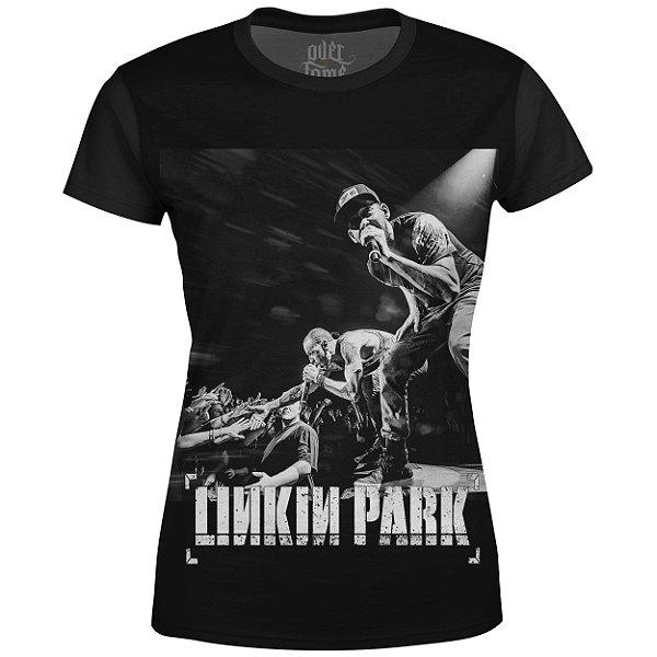 Camiseta Baby Look Feminina Linkin Park Estampa digital md03