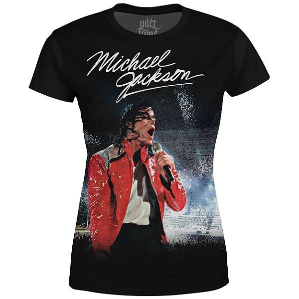 Camiseta Baby Look Feminina Michael Jackson md01