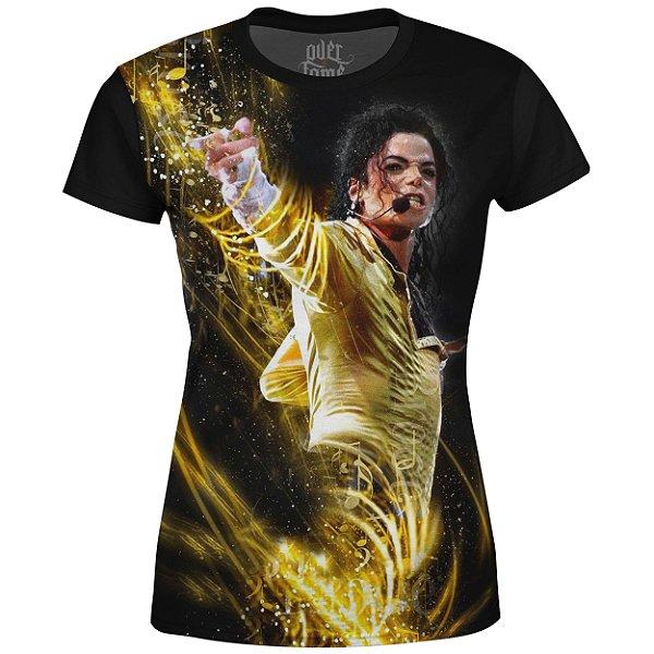 Camiseta Baby Look Feminina Michael Jackson md03
