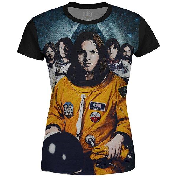 Camiseta Baby Look Feminina Pink Floyd Estampa digital md03