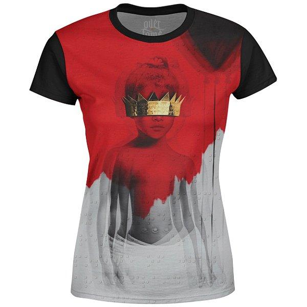 Camiseta Baby Look Feminina Rihanna Estampa digital md05