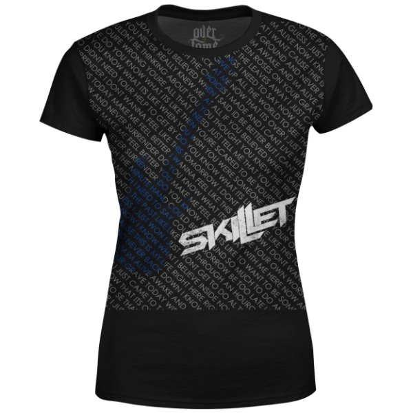 Camiseta Baby Look Feminina Skillet Estampa digital md02