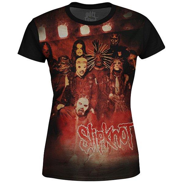 Camiseta Baby Look Feminina Slipknot Estampa digital md01