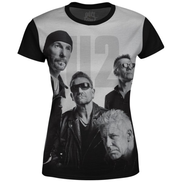 Camiseta Baby Look U2 Estampa digital md01