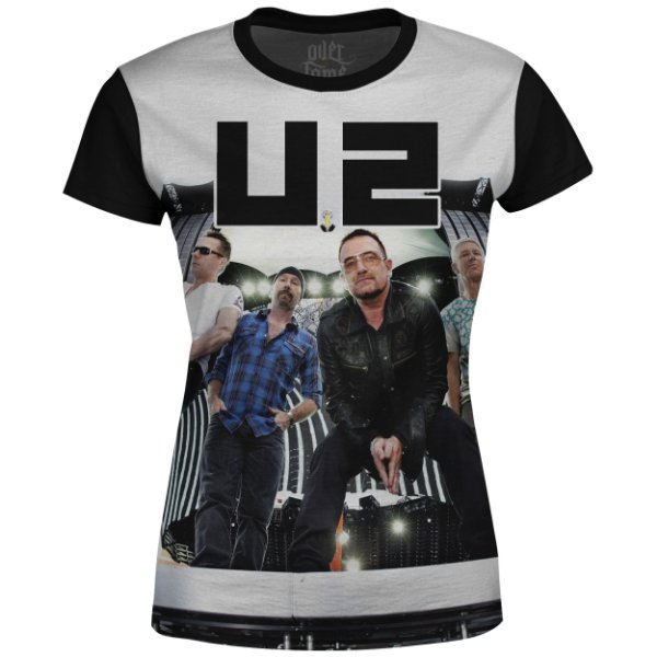 Camiseta Baby Look U2 Estampa digital md02