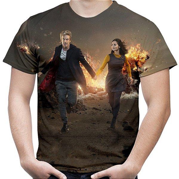 Camiseta Masculina Doctor Who Estampa Total Md03 - OUTLET