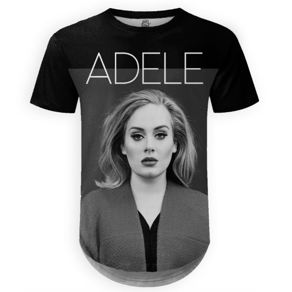 Camiseta Masculina Longline Adele Estampa Digital md01