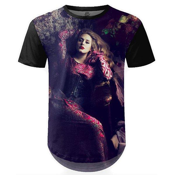 Camiseta Masculina Longline Adele Estampa Digital md02
