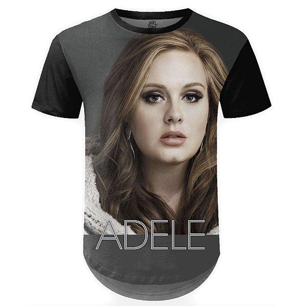 Camiseta Masculina Longline Adele Estampa Digital md03