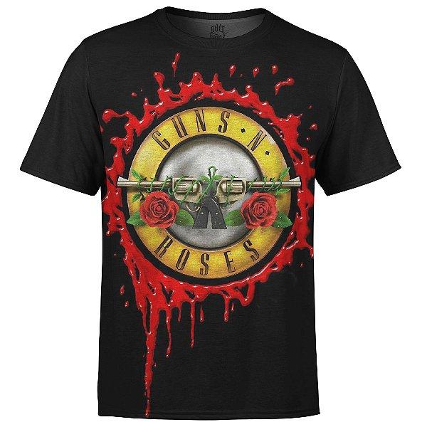 Camiseta masculina Guns N' Roses Estampa digital md07