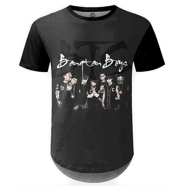 Camiseta Masculina Longline BTS Bangtan Boys md02