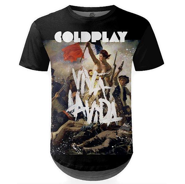 Camiseta Masculina Longline Coldplay Estampa digital md03