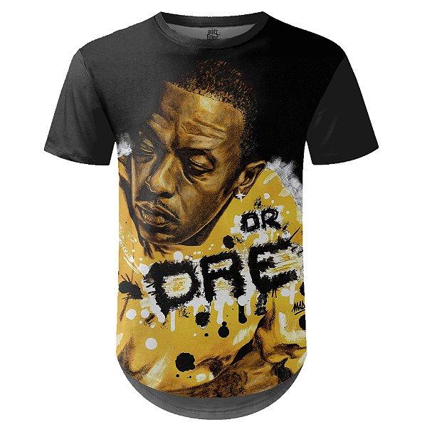 Camiseta Masculina Longline Dr. Dre Estampa digital md01