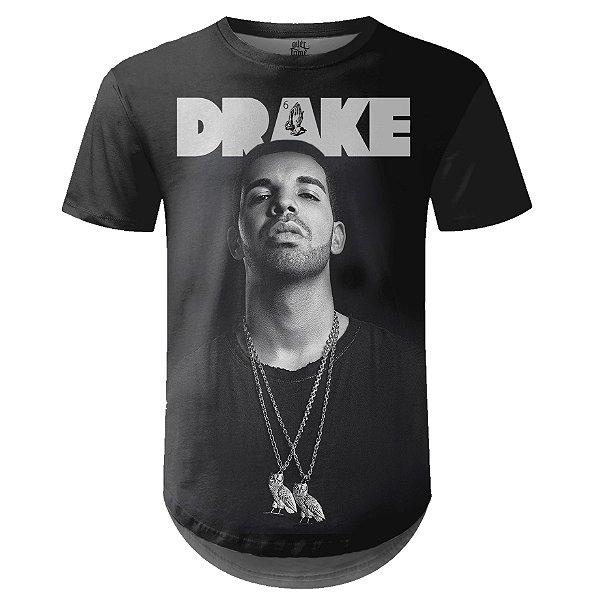 Camiseta Masculina Longline Drake Estampa digital md04