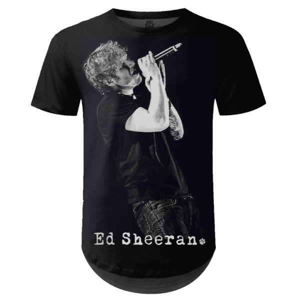 Camiseta Masculina Longline Ed Sheeran Estampa digital md01
