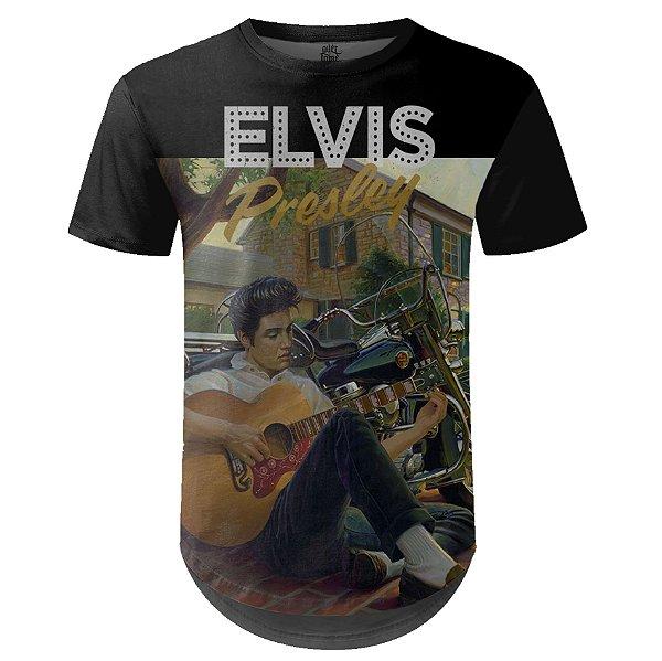 Camiseta Masculina Longline Elvis Presley md02
