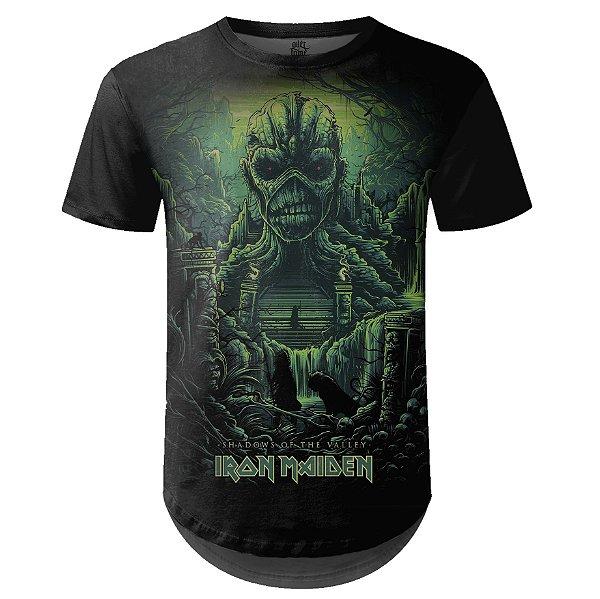 Camiseta Masculina Longline Iron Maiden Estampa digital md04