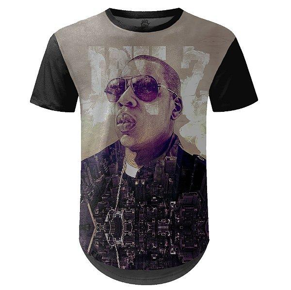Camiseta Masculina Longline Jay-Z Estampa digital md01