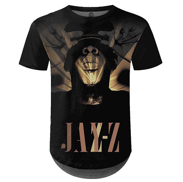 Camiseta Masculina Longline Jay-Z Estampa digital md03