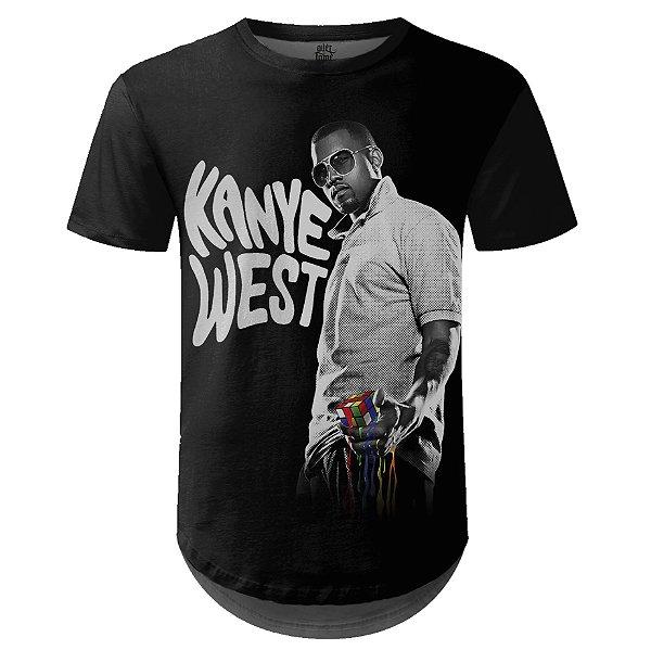 Camiseta Masculina Longline Kanye West Estampa digital md01