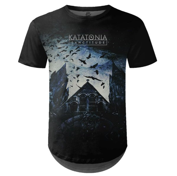 Camiseta Masculina Longline Katatonia Estampa digital md01