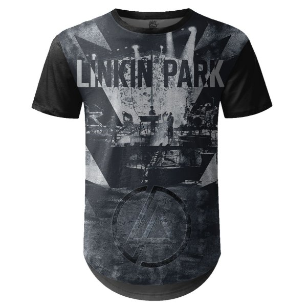 Camiseta Masculina Longline Linkin Park Estampa digital md01